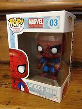 FUNKO POP! Marvel Universe Spider-Man Blue & Red #03 Vinile Figura Nuovo di Zecca