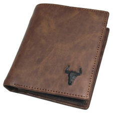 Wallets For Mens Credit Card Purse Zipper Pocket ID Photo Holder Brown