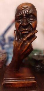 Sculpture the tragic face of the actor Modern Art Deco