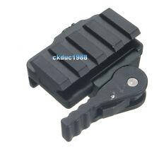 4-Slot Quick Detach Picatinny/Weaver Compact Adaptor Riser Rail Scope Mount #06