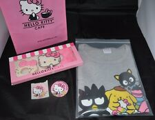Lot of 5 2017 Sanrio Hello Kitty Cafe Food Truck T- Shirt Sz Large, bag more