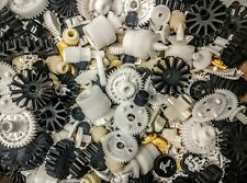 Lot of Plastic Gears, Cogs, Bits! - 1 lb of Small Parts for Crafts or Projects