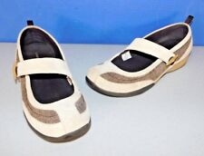16801160904b LANDS END TAN & BROWN MARY JANES, WALKING SHOES, WOMAN'S SIZE ...