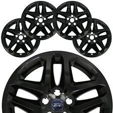 "4 Black 13-16 Ford Fusion 17"" Wheel Covers Rim Skins Hub Caps fits Alloy Wheels"