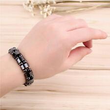 1PC Black Magnetic Hematite Healing Mens Womens Loose Beads Bracelet
