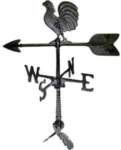 Weathervane Roof Mount Rooster Outdoor Wind Weather Direction Vane Chicken Farm