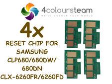 4x TONER RESET CHIPS FOR SAMSUNG CLP 680 680DW 680DN CLX-6260FR 6260FD CLT-506L