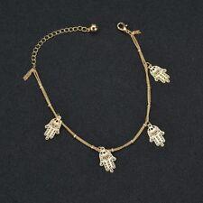 Chain Anklets Bracelet Women Jewelry Gift Elegant Alloy Hand Hollow Pendant Foot