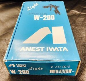 ANEST IWATA W-200-201S 2.0mm Suction Spray Gun no Cup W200 with Tracking