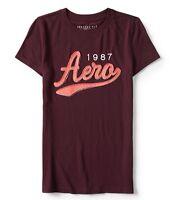 Aeropostale Women's Tee Shirt Embroidered Level Two Aero 1987