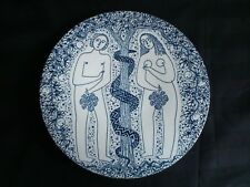 """Rare Nymølle wall plaque by Jacob E.Bang """"Adam and the Two Serpents""""3251-166"""