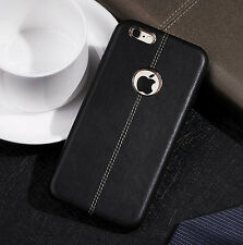 SLIM Luxury Leather Back Ultra-Thin TPU Case Cover for iPhone X & 8/7/6s Plus