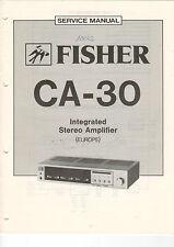 FISHER Service Manual Anleitung CA-30   B1472