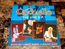 Cinderella Signed The Live EP Holland Import Vinyl Record Tom Keifer Photo COA