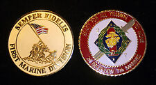 XL 2/7 2nd Battalion 7th US MARINES CHALLENGE COIN PALMS PIN UP 1ST MAR DIV GIFT