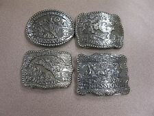 Belt Buckles Nos Free Ship Lot 3 Lot of 11 Vintage Hesston National Finals Rodeo