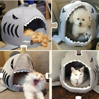 Funny Shark Mouth Pet Dog Cat Warm House Removable Washable Soft Cave Basket Bed