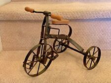 """12"""" Long Mini Tricycle, Working Pedals & Wheels, Metal Frame & Wood Seat & Grips"""