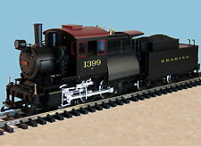 PIKO G SCALE  READING CAMELBACK LOCOMOTIVE ENGINE W/ TENDER Smoke & Sound  New
