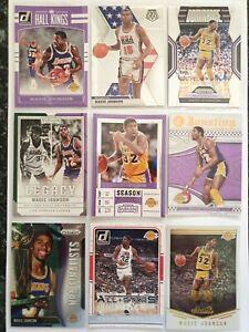 Magic Johnson, 9 card lot, Nba, Lakers