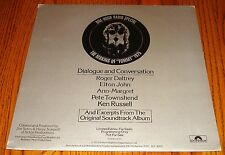 THE WHO THE MAKING OF TOMMY 1975 DIALOGUE & CONVERSATIONS RADIO STATION PROMO