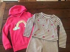 CIRCO Pink Rainbow Sweatshirt - Heather Grey Sweat Pant - 3 piece Lot Size M 7