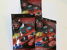 (3)Disney Pixar Cars 3 Blind Bag MINI RACERS with DIE-CAST Toy Vehicle Inside!
