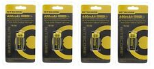 4 X Genuine NITECORE NL166 RCR123A Rechargeable Battery Li-ion Protected 16340