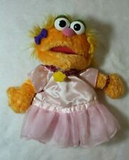 "Gund 2003 Sesame Street Zoe Pink Tutu Dress 10"" Plush Hand Puppet"