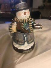Thomas Kinkade Figurine - Christmas Memories Snowman 2004 - Skating