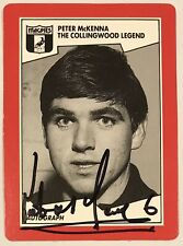 1989 SCANLENS AFL CARD PERSONALLY SIGNED BY PETER McKENNA COLLINGWOOD