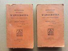 Dictionnaire encyclopedique d'anecdotes par Guerard chez Dorbon-Ainé 2 tomes