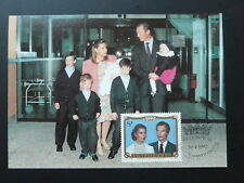 royal family maximum card Luxembourg 1992