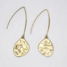 premier designs women jewelry antique matte brass plated long ear-wire earrings