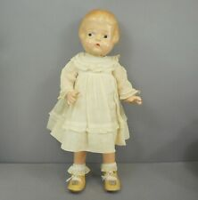 """1920s or 1930s Vintage Antique 16"""" Patsy Type Composition Doll Painted Eyes"""