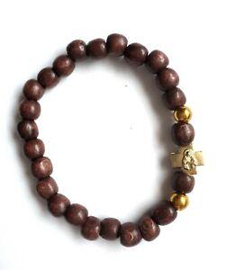 Rosary Wooden Bracelet Protection With Metal Cross  Браслет С Крестом