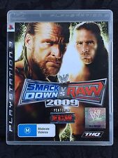 WWE SmackDown vs Raw 2009 (PS3 PAL) Complete with & Manual Excellent Condition