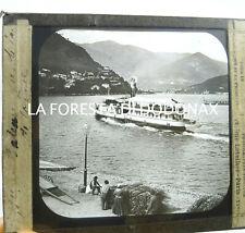 FOTO ANTICA LANTERNA MAGICA COMO BATTELLO SUL LAGO 1880