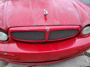2001-2002 2003 2004 2005 2006 2007-2008 JAGUAR X-TYPE FRONT MESH GRILLE RED