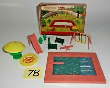 Vintage O 027 S SCALE PLASTICVILLE PLAYGROUND 1406  79 ORIG BOX 78