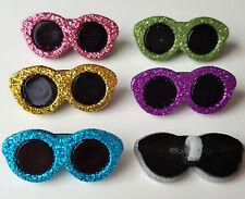 METALLIC GLITTER SUNGLASSES Shades Glasses Summer Sun Dress It Up Craft Buttons