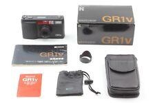【 Boxed Near Mint 】 Ricoh GR1v BLACK 35mm Film Camera + Hood Filter from Japan