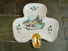 Shamrock Clover Trinket Dish Ashtray Fisherman Castl Carrigaline Pottery Ireland