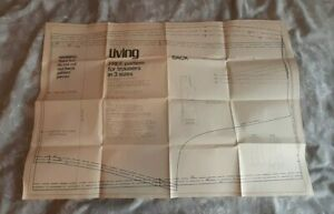"""Vintage Sewing Pattern from Living Magazine Trousers in 3 Sizes 36"""" 38"""" 40"""""""