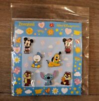 Disney Parks Chip Dale Pluto Donald Mickey Toddler Stitch Booster 7 Pin Set NEW