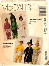 McCall's Costume Sewing Pattern Baby PEAS IN POD CHICK EGG ANGEL 5017 Sz 1 UNCUT