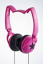 mix-style nekomimi headphones Star Cosplay Costume Cat Ear Pink Black F/S