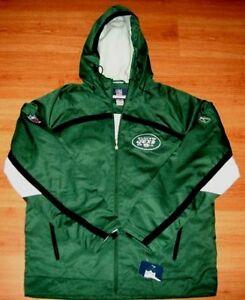 New York Jets Hooded Jacket Large Centurion Reebok On Field Authentic NFL