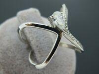 Turkish Handmade Jewelry 925 Sterling Silver Zircon Stone Women Ring Sz 8