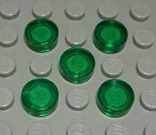 Lego Fliese Kachel 1x1 rund Transparent Grün 5 Stück                     (171 #)
